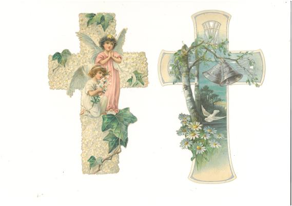 Two cards for my grandmother´s confirmation April 2, 1905