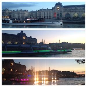 musée d'orsay, quai d'orsay, orsay museum, bateaux mouches, seine river, paris, France, night