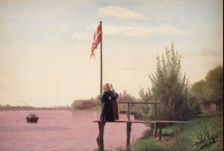 C. Koebke at a lake outside the ramparts of Copenhagen