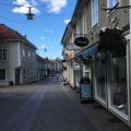 The street in Eksjö with woodenhouses
