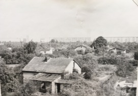 Worn houses along the railway in Eastern German