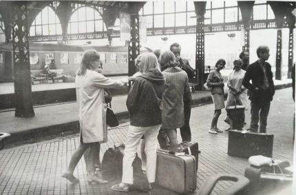 Waiting at the Central Station in Copenhagen 1967