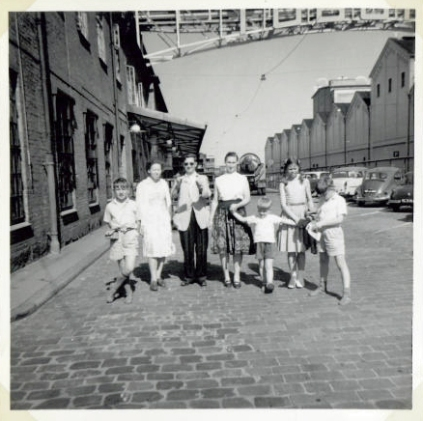 The Holm family and the Briton family at Tuborg brewery in Copenhagen 1962