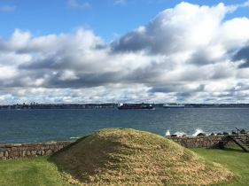View towards Sweden from Elsinore Castle