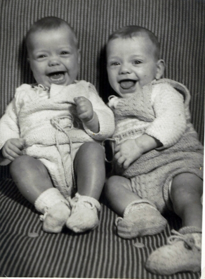 Six months old me to the left