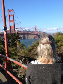 In awe by the Golden Gate Bridge