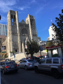 Grace Cathedral on a high hill in San Fransisco