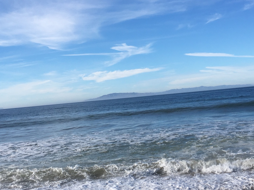 From the beach of Oxnard looking towards The Channel Islands