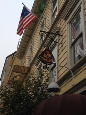 The facade of the San Remo Hotel