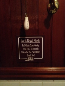The instruction for the use of the Royal flush