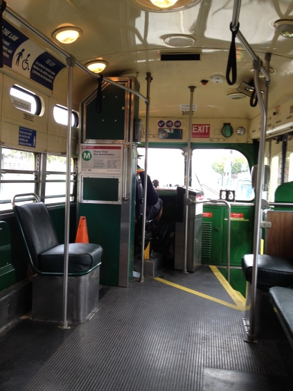 Interior at a modern street car