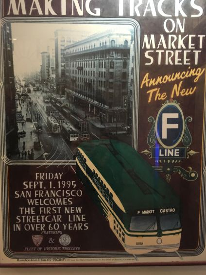 A poster at the hotel from the re-lancing of the Street Cars
