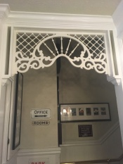 A decoration at the entrance