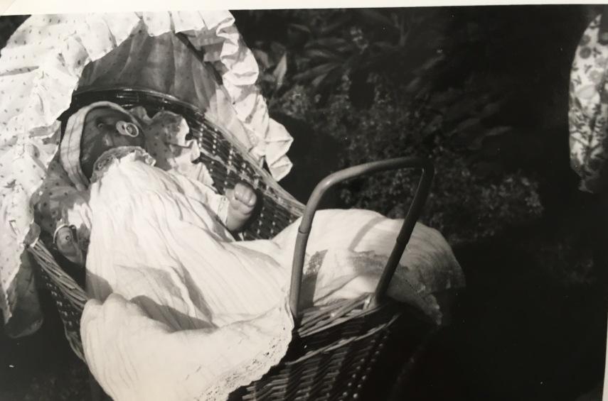 A.M.'s cane doll's pram