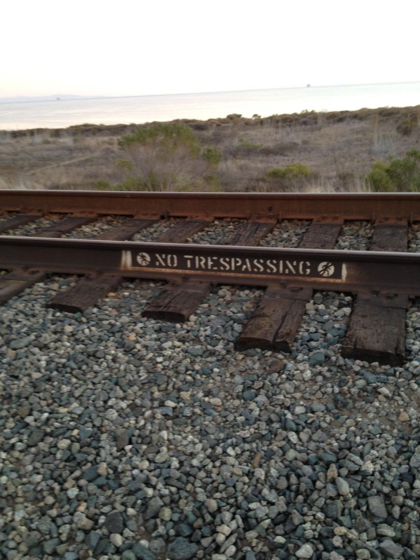 "Amtrak ""no trespassing"""
