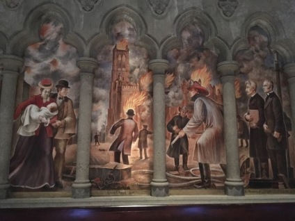 A wall painting at one of the isles inside the Cathedral