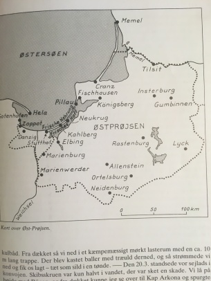 Map over East Prussia