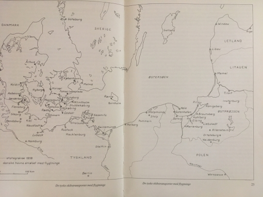 Map over parts of Balticum, East Prussia, and the Eastern Sea, Poland and Germanny and Denmark and Sweden