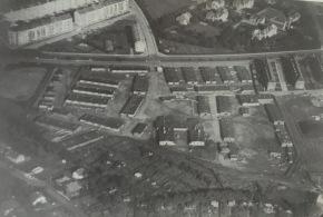 Air photo of a camp in Aarhus, Denmark