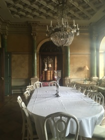 The dining room at Fuglsang Manor House