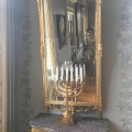 A mirror and a menorah