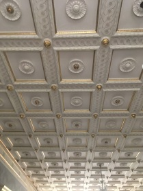 The ceiling in the salons of Fuglsang Manor House
