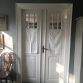 The doors beweet our breakfast room and the privatekitchen