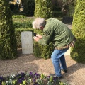 Henry taking a photo of the allied airmen graves atSvinoe