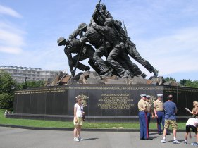 The Iwo Jima Memorial in Washington DC (Photo MH)
