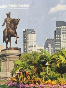 "Boston Public Garden ""The colossal equestrian bronze statue of George Washington, in the Public Garden, at the Arlington Street entrance opposite Commonwealth Avenue, is the largest and one of the most impressive works of sculpture in Boston."