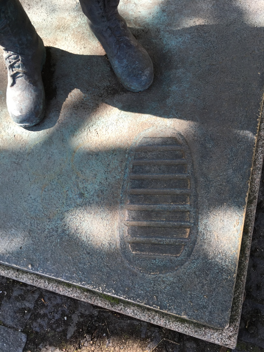 The moon boot footprint Hasselblad