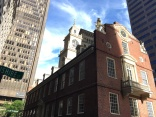 Old State House with the balcony from where the Declaration of Liberty was read in 1776