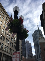 Street decoration near the Old South Meeting House in Boston