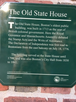 Plaquette on the Old State House