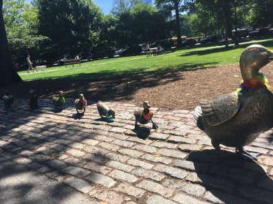 """Make way for ducklings"" in Boston Public Garden by Robert Mc Closkey 1987"