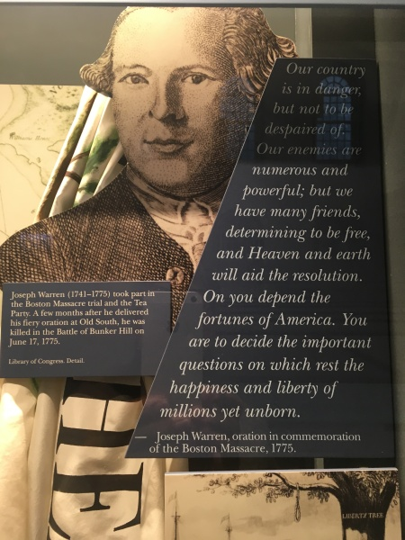 Dr Joseph Warren (1741-1775) died in the Bunker Hill Battle