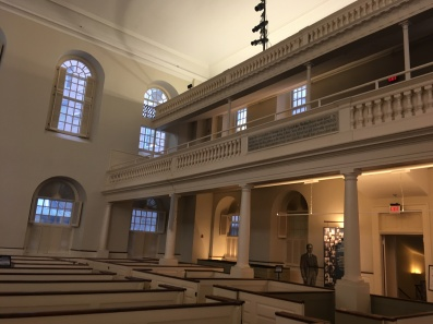 Inside the Old South Meeting House
