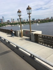 Longfellow Bridge crossing Charles River in Boston