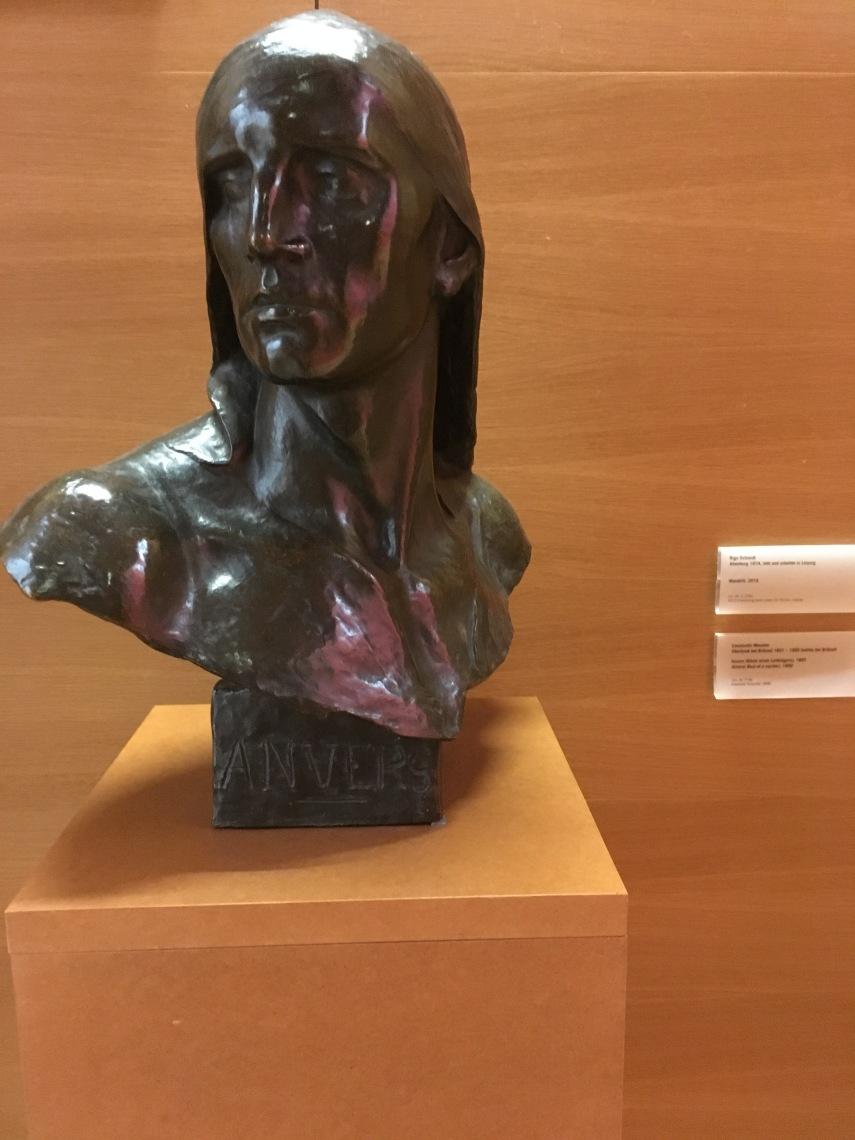 Bust by Constantin Meunier