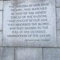 WW2 Memorial inscription by PresidentTruman