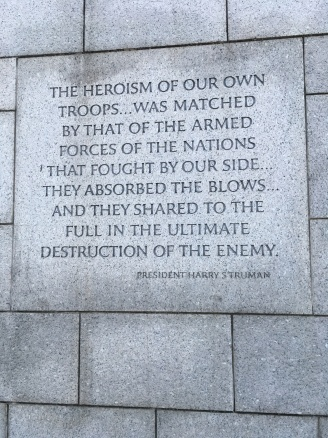 WW2 Memorial inscription by president Truman