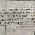 WW2 Memorial inscription by Admiral Chester W.Nimitz