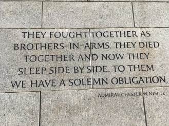 WW2 Memorial inscription by Admiral Chester W. Nimitz