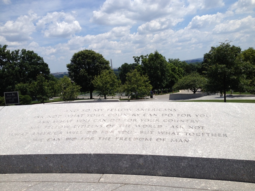 Arlington National Cemetery JFK quote