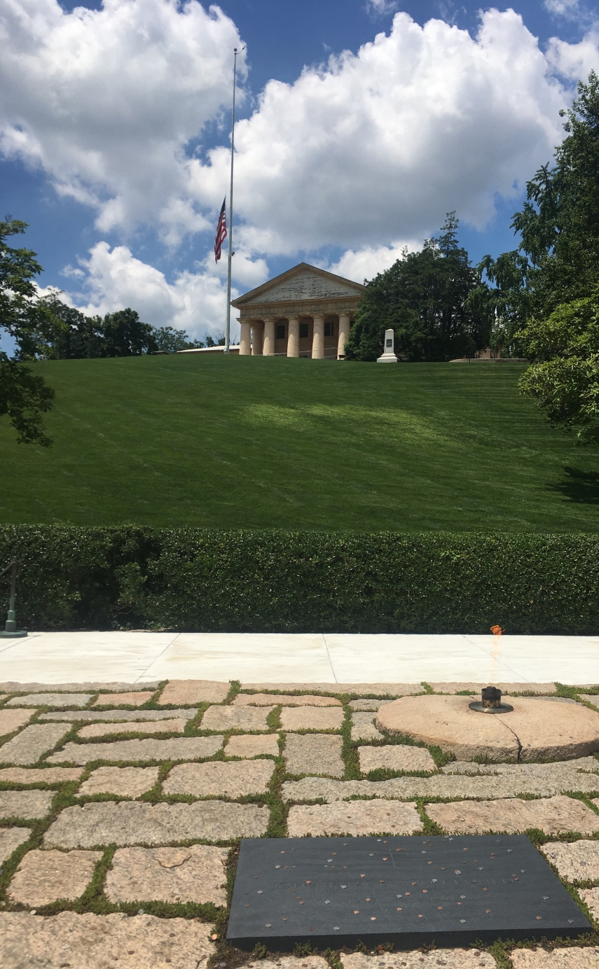 Arlington National Cemetery JFK's grave and the eternal flame