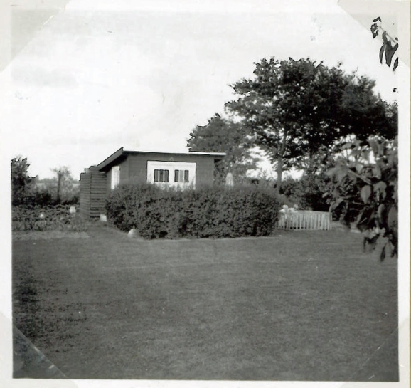 The summerhouse. We are in the playpen summer 1952