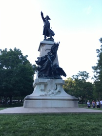 The Rochambeau statue, erected in 1902 at the southwest corner of Lafayette Park