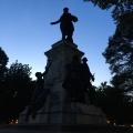 Lafayette statue bynight