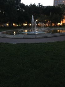 A fountain at The Lafayette Park. We tried for cash the fireflies
