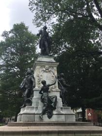 The Lafayette Square statue of Marquis De Lafayette